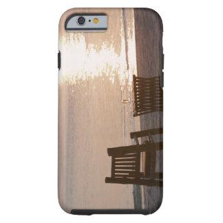 Sandy Beach of Sunset 2 Tough iPhone 6 Case