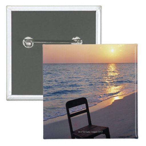 Sandy Beach of Sunset Pin