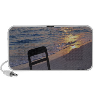 Sandy Beach of Sunset Laptop Speakers