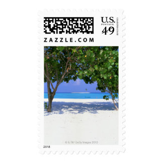 Sandy Beach Postage Stamps