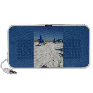 Sandy beach scene on your new speakers