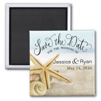 Sandy Beach Starfish Save the Date Magnet