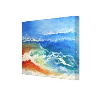 Sandy Beach Stretched Canvas Prints