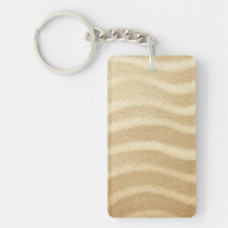 Sandy Beach Texture For Background. Top View Keychain