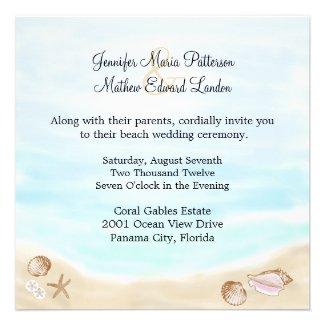 Sandy Beach Wedding Invitation
