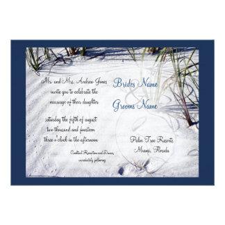 Sandy Beach Wedding Invitation- IMPROVED