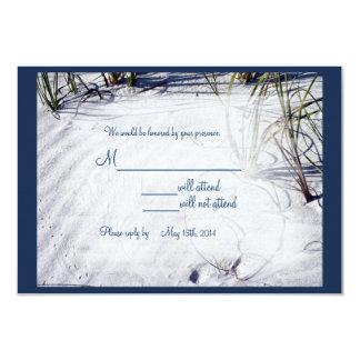 Sandy Beach Wedding RSVP02 3.5x5 Paper Invitation Card