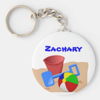 Sandy Beaches Basic Round Button Keychain