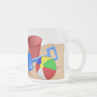 Sandy Beaches Frosted Glass Coffee Mug