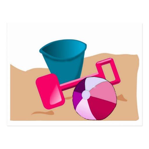 Sandy Beaches - Pinks Postcard