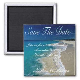 Sandy Beaches Save the Date Refrigerator Magnet
