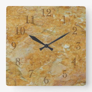 Sandy Brown And Off White Square Wall Clock