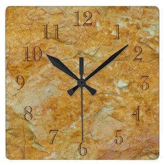 Sandy Brown y del blanco Reloj Cuadrado