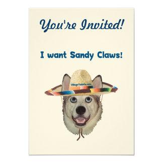 Sandy Claws Beach Dog Card
