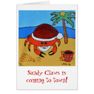 Sandy Claws by Joel Anderson Card