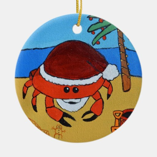 Sandy Claws by Joel Anderson Ornament