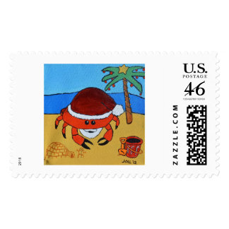 Sandy Claws by Joel Anderson Postage Stamps