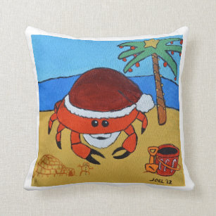 Beach Christmas Pillows Decorative Amp Throw Pillows Zazzle