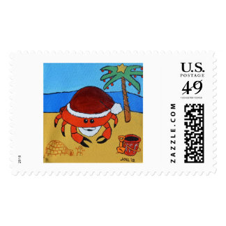 Sandy Claws by Joel Anderson Stamp