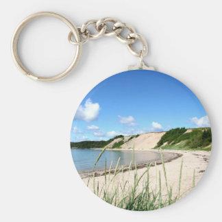 Sandy Cove Beach Basic Round Button Keychain