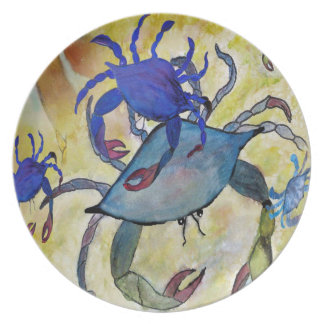 Sandy Crab art plate