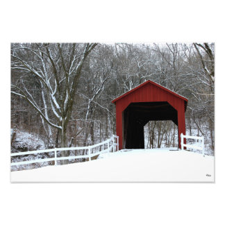 "Sandy Creek Covered Bridge, 13""x19"" Photo Print"