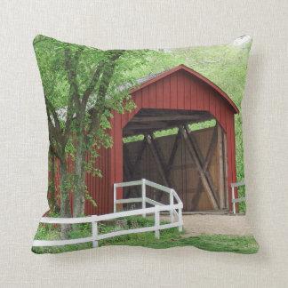 Sandy Creek Covered Bridge Hillsboro, Missouri Throw Pillow
