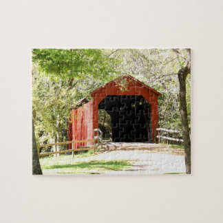 Sandy  Creek Covered Bridge Jigsaw Puzzle