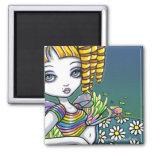 """Sandy"" Cute Rainbow Fairy Mermaid Art Magnet"