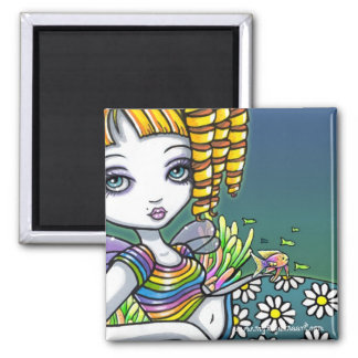 Sandy Cute Rainbow Fairy Mermaid Art Magnet