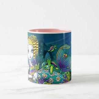 """""""Sandy"""" Cute Rainbow Fairy Mermaid Art Mug"""