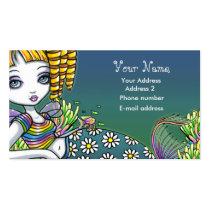 sandy, rainbow, cute, blond, myka, jelina, fairy, faery, faerie, fae, fairies, pixie, fantasy, art, mermaid, oceans, Business Card with custom graphic design