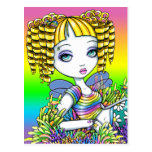 """Sandy"" Cute Rainbow Mermaid Fairy Art Postcard"