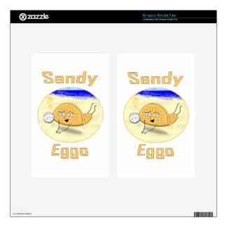 Sandy Eggo Kindle Fire Decal