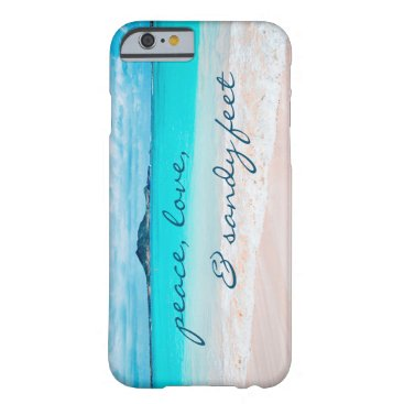 "Beach Themed ""Sandy feet"" turquoise beach photo cell phone case"