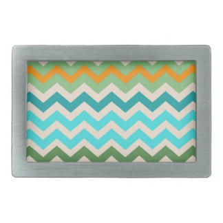 Sandy Green and Teal Chevron Mix Belt Buckle