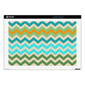 Sandy Green and Teal Chevron Mix Decals For Laptops