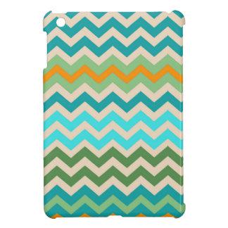 Sandy Green and Teal Chevron Mix iPad Mini Cover