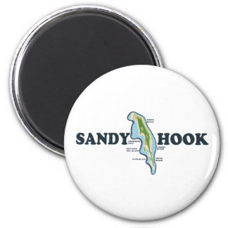 Sandy Hook. 2 Inch Round Magnet
