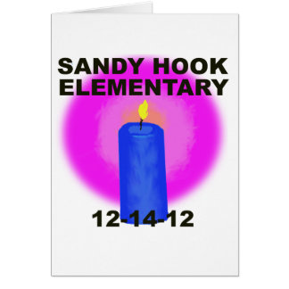 SANDY HOOK ELEMENTARY, candle Greeting Card