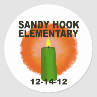 SANDY HOOK ELEMENTARY CANDLE CLASSIC ROUND STICKER