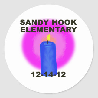 SANDY HOOK ELEMENTARY, candle Classic Round Sticker