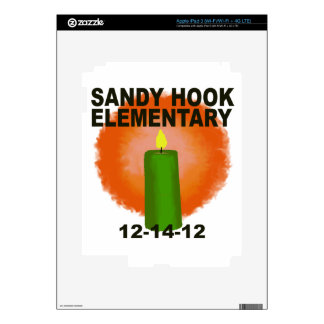 SANDY HOOK ELEMENTARY CANDLE DECALS FOR iPad 3