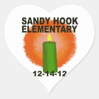 SANDY HOOK ELEMENTARY CANDLE HEART STICKER