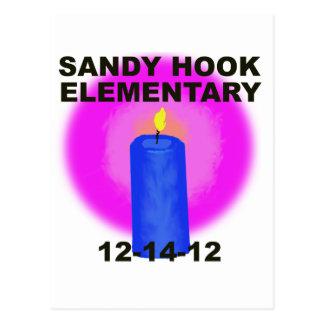 SANDY HOOK ELEMENTARY, candle Postcard