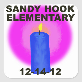 SANDY HOOK ELEMENTARY, candle Square Sticker