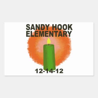 SANDY HOOK ELEMENTARY CANDLE RECTANGULAR STICKER