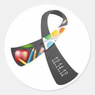 Sandy Hook Elementary Memorial Ribbon Classic Round Sticker