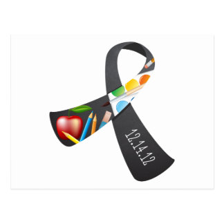 Sandy Hook Elementary Memorial Ribbon Postcard
