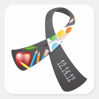 Sandy Hook Elementary Memorial Ribbon Square Sticker